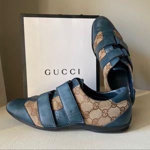 Gucci - Guccisima Canvas Leather Velcro Sneakers
